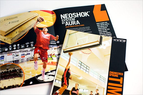 aura sports basket ball brochure template download