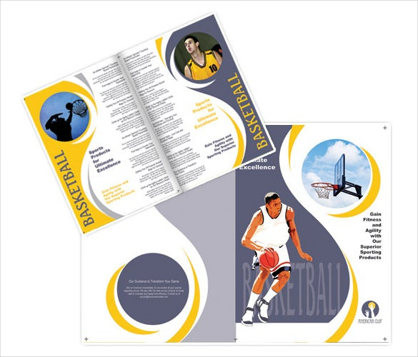 basketball sports brochure template eps format download