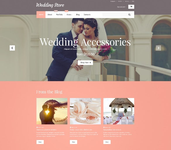 wedding store woocommerce bootstrap template