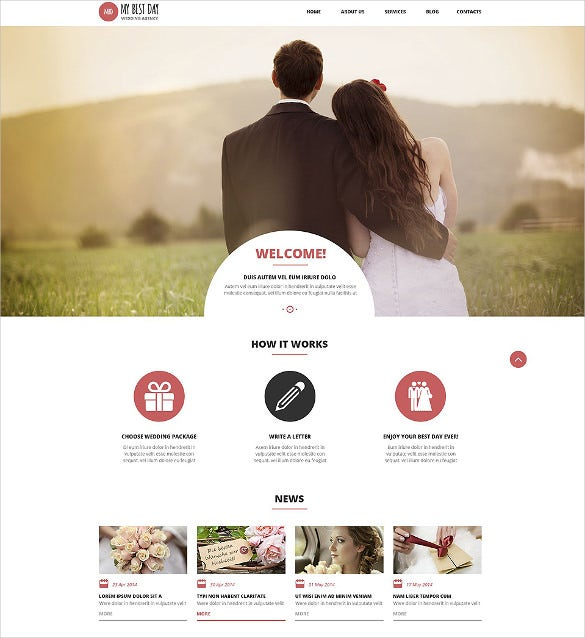 wedding planning consultancy wordpress bootstrap theme
