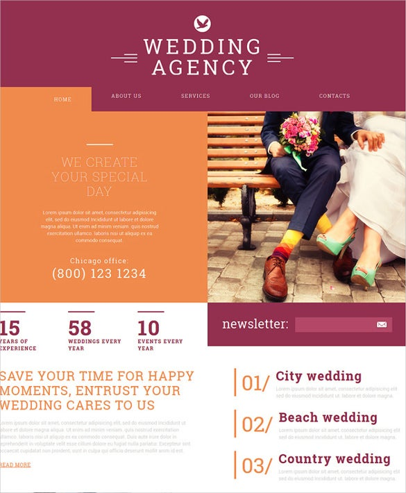 wedding agency joomla bootstrap template