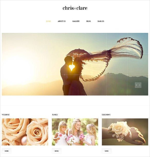 wedding album responsive website bootstrap theme