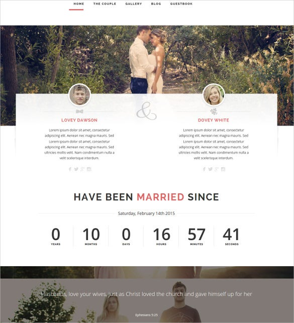 responsive wordpress wedding bootstrap theme