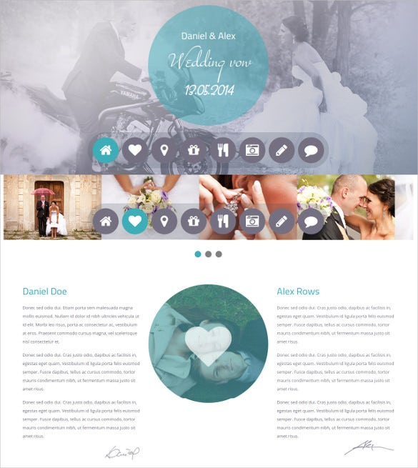wedding vow responsive wordpress bootstrap template