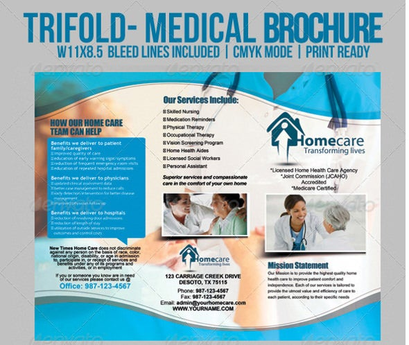 Patient Brochure Templates Insssrenterprisesco - Free medical brochure templates