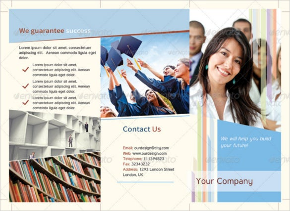 Graduation Brochure Templates  Free Psd Eps Illustrator Ai