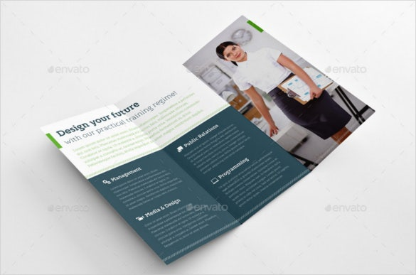 smart education graduation trifold brochure indesign