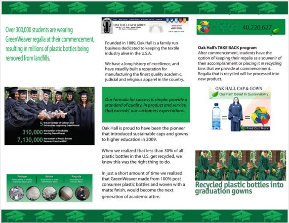 going green graduation brochure free download