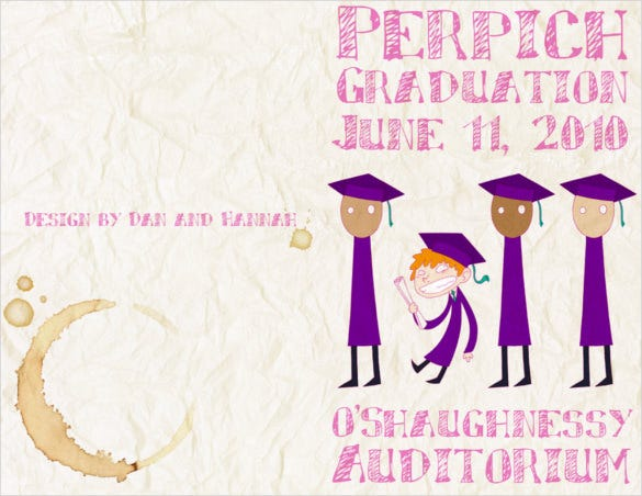 graduation brochure template png format download