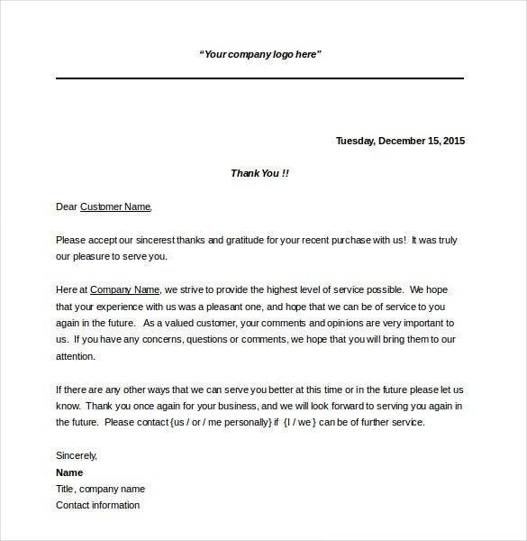 Business thank you note 7 free word excel pdf format download business thank you notes is a simple and useful thank you note that helps you to convey your gratitude for the customer who has made a recent purchase expocarfo
