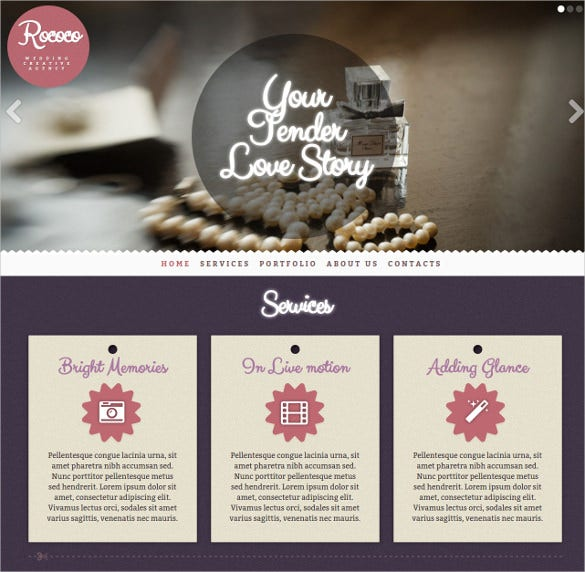 wedding creative agency bootstrap theme