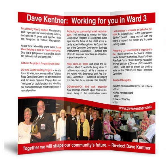 dave kentner election campaign brochure download
