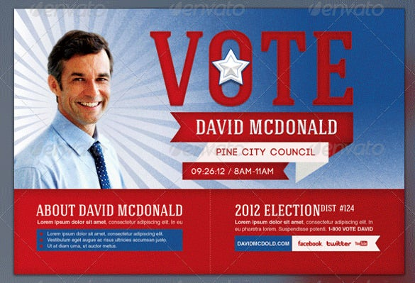 voting election brochure template psd design download