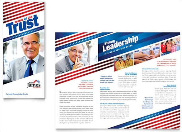 9 Election Brochure Templates Free PSD EPS Illustrator AI – Political Flyer Template