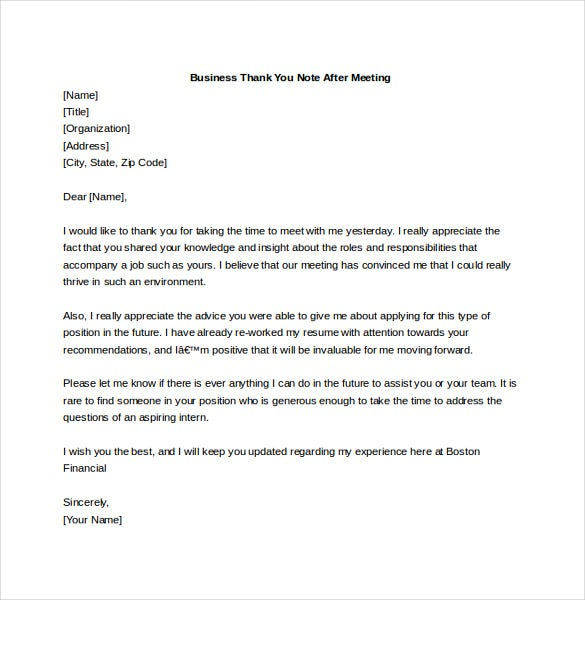 Business Thank You Note – 7+ Free Word, Excel, Pdf Format Download