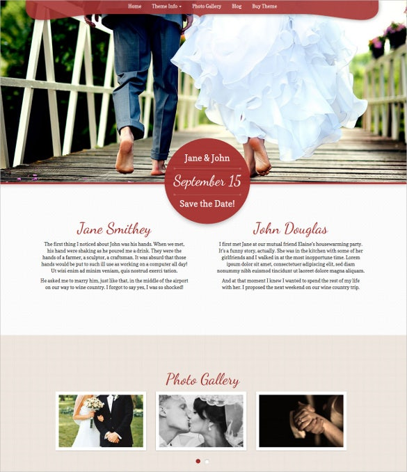 my wedding wordpress bootstrap theme