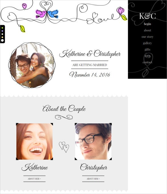 responsive wedding gay marriage bootstrap template