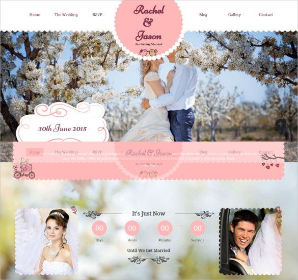 wedding event wordpress bootstrap theme