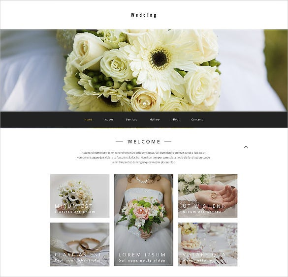 preium wedding psd theme