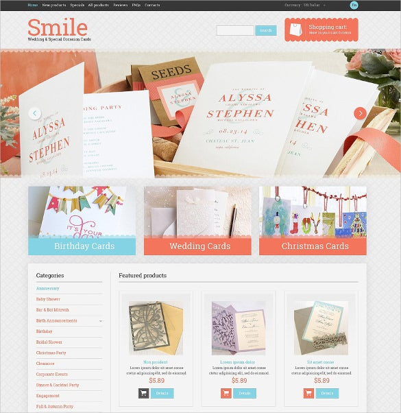 wedding shop psd theme