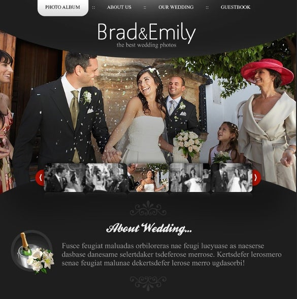 wedding album psd theme