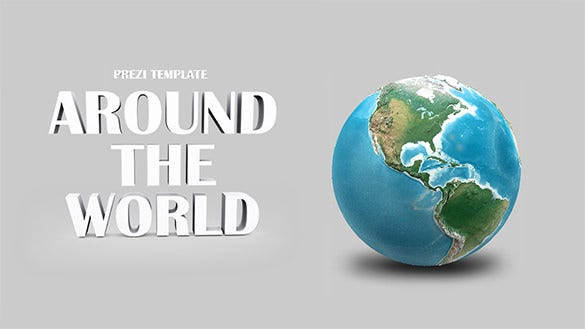 sample free 3d around the world prezi template