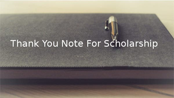 thank you note for scholarship
