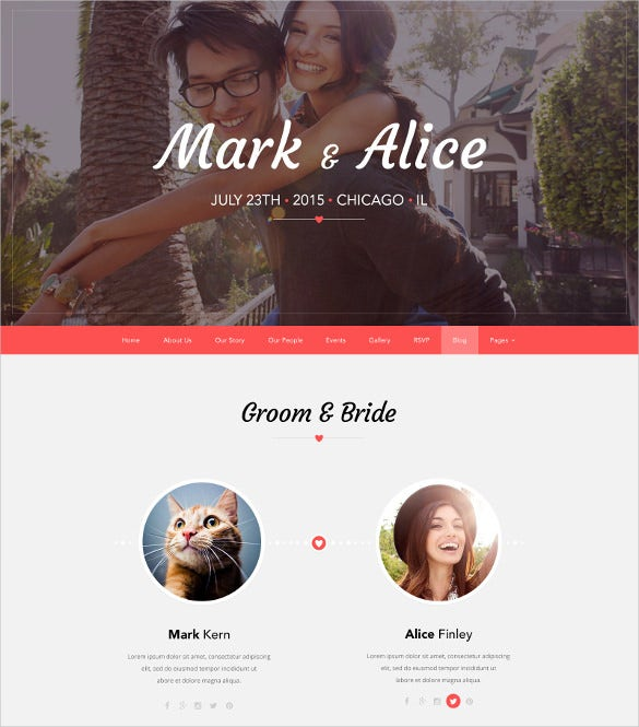 love wedding psd theme