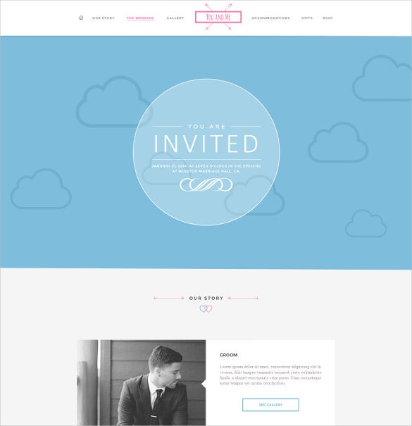 premium wedding psd template