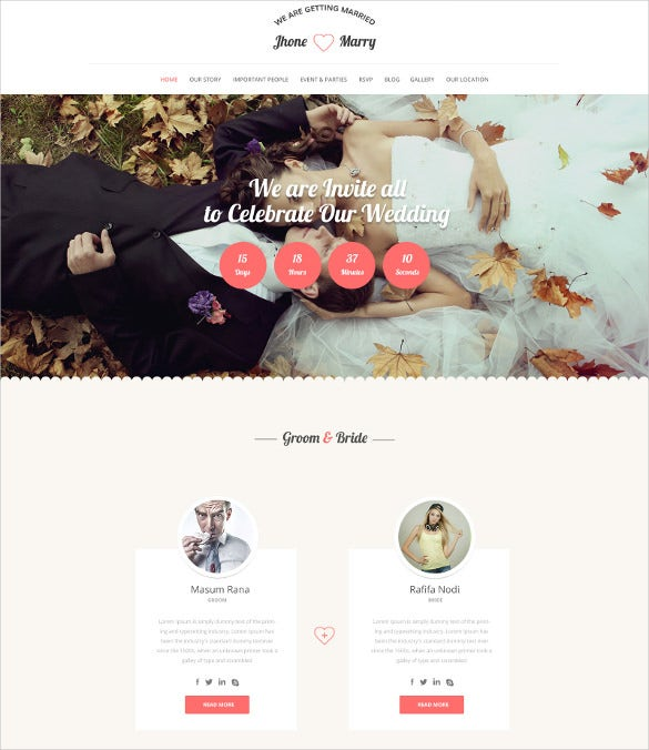 wedding day psd theme
