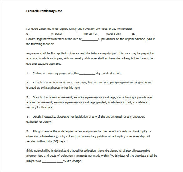 Perfect Mortgage Promissory Note Word Free Download To Mortgage Note Template