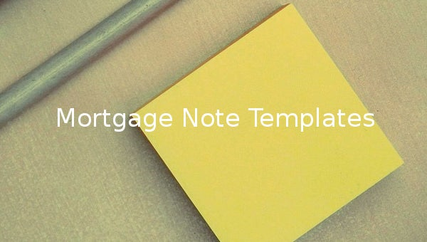 mortgage note templates