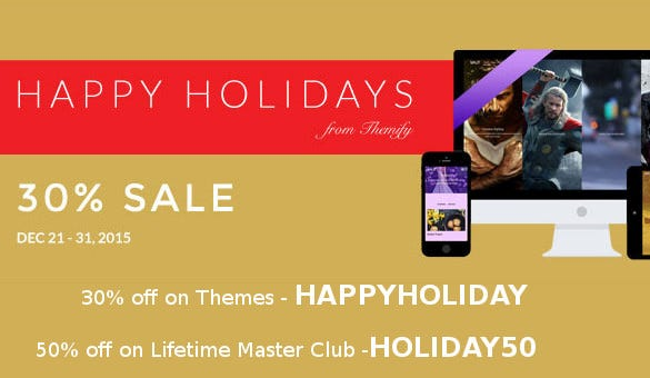 Themify Holiday Coupon Code
