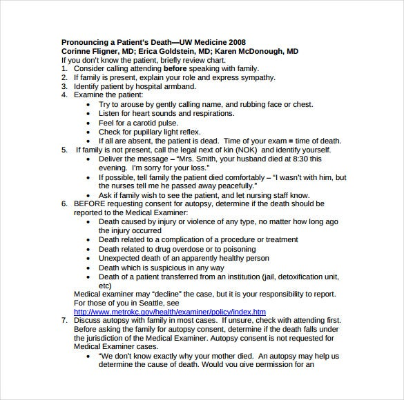 deptswashingtonedu our website has a wide range of patient death notice templates that can be used in hospitals regarding the death of a patient