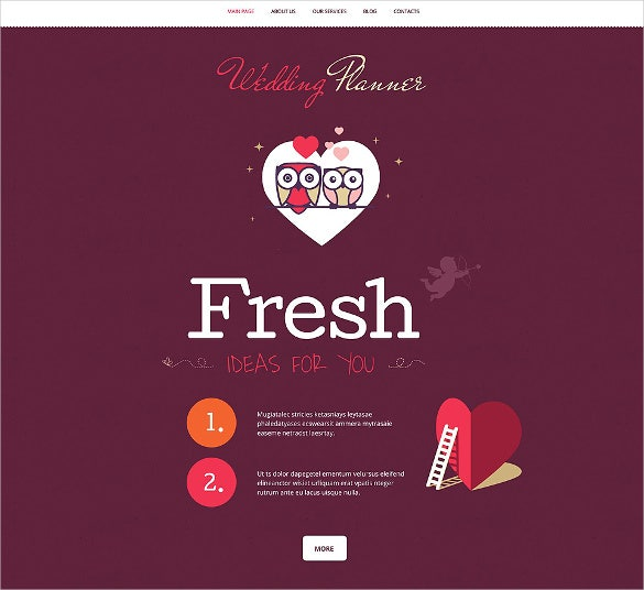 wedding planner php wordpress theme