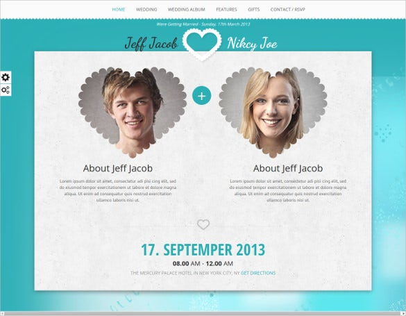 responsive wedding invite php template