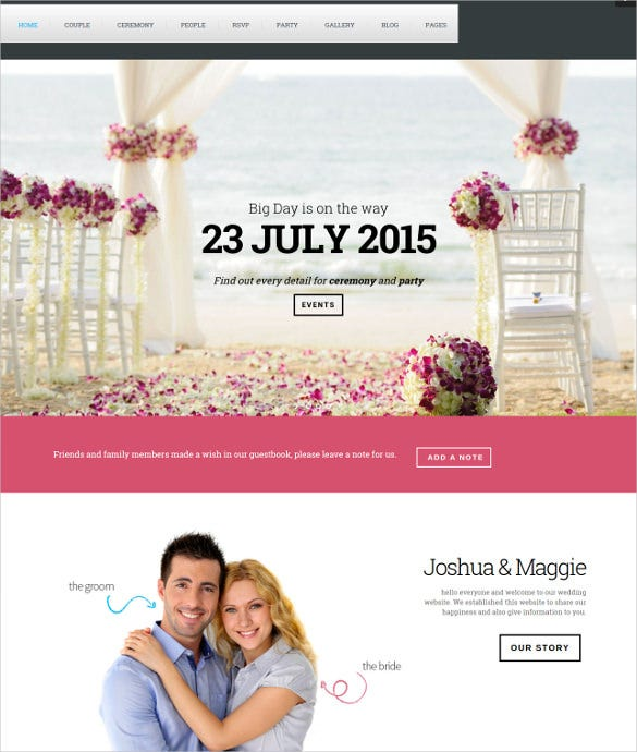 wedding suite wordpress php theme
