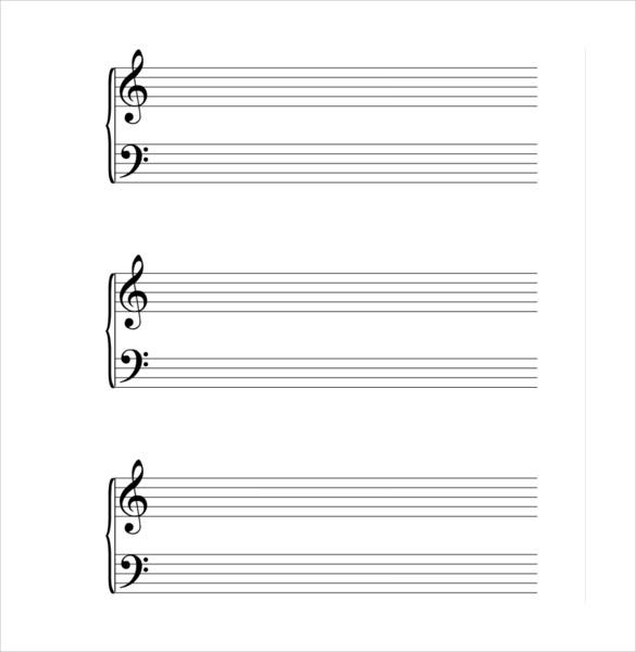 picture regarding Large Printable Music Notes named Musical Notice Template 9+ Free of charge PDF, EPS Layout Down load