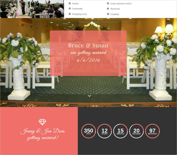 perfect wedding muse php template