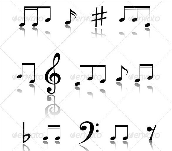 simple musical note template download