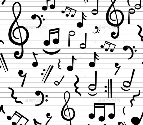 premium musical note template download