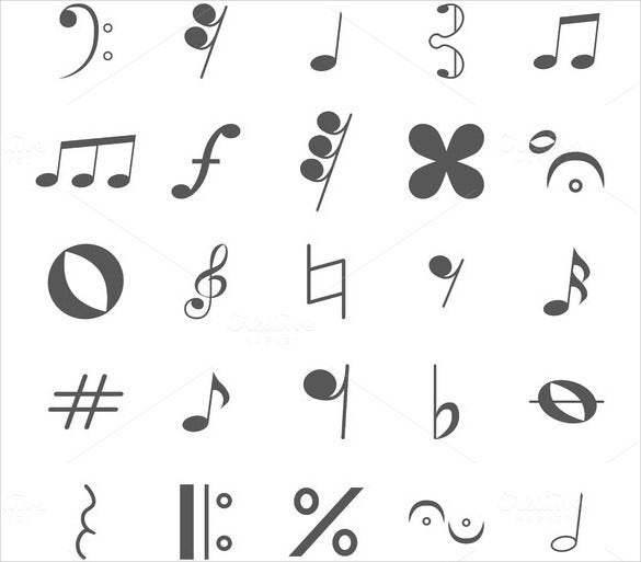 Musical Note Template   Free Pdf Eps Format Download  Free