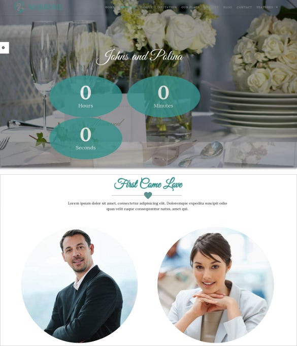 excellent wedding wordpress php template