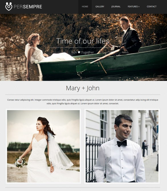 wedding minimal html5 php template