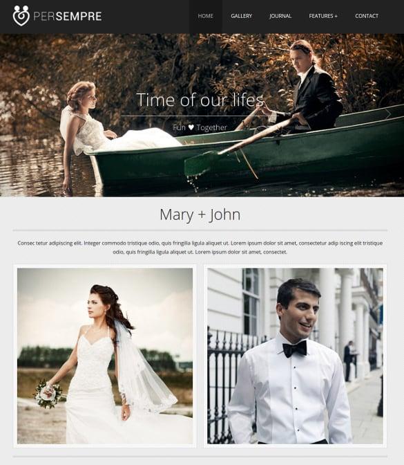 wedding minimal html5 php template
