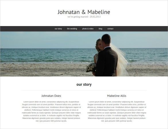 wedder one page wedding php template