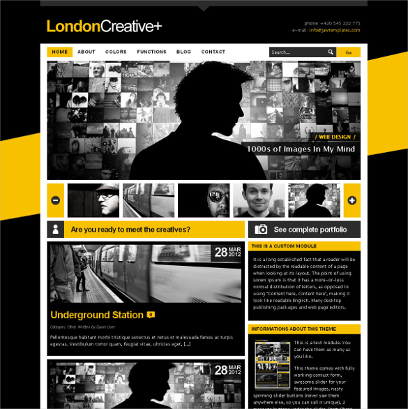 london creative portfolio joomla theme