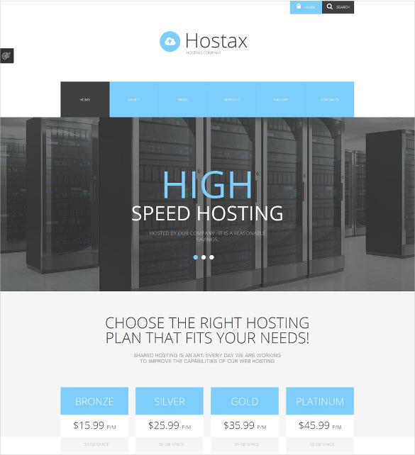 hostax portfolio joomla template