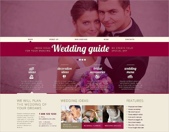 responsive wedding planner wordpress theme
