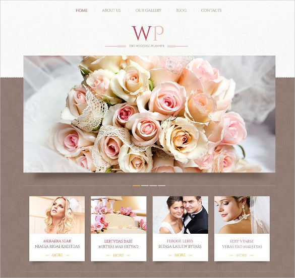 tender wedding planner wordpress template